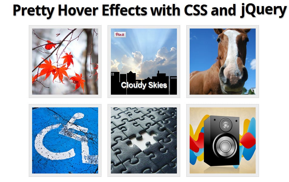 Pretty Hover Effects with CSS and jQuery