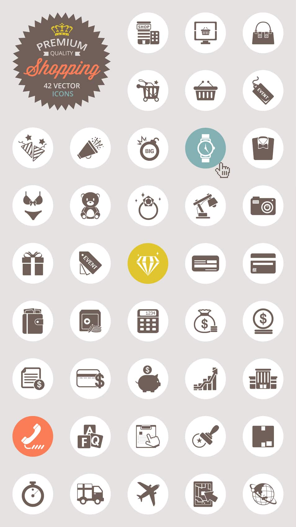 Shopping Vector Icon Set - cssauthor.com
