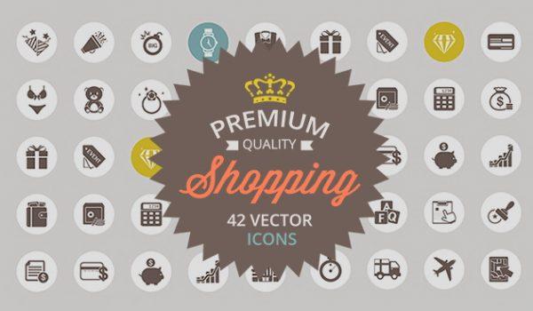 Shopping Vector Icon Set - cssauthor.com