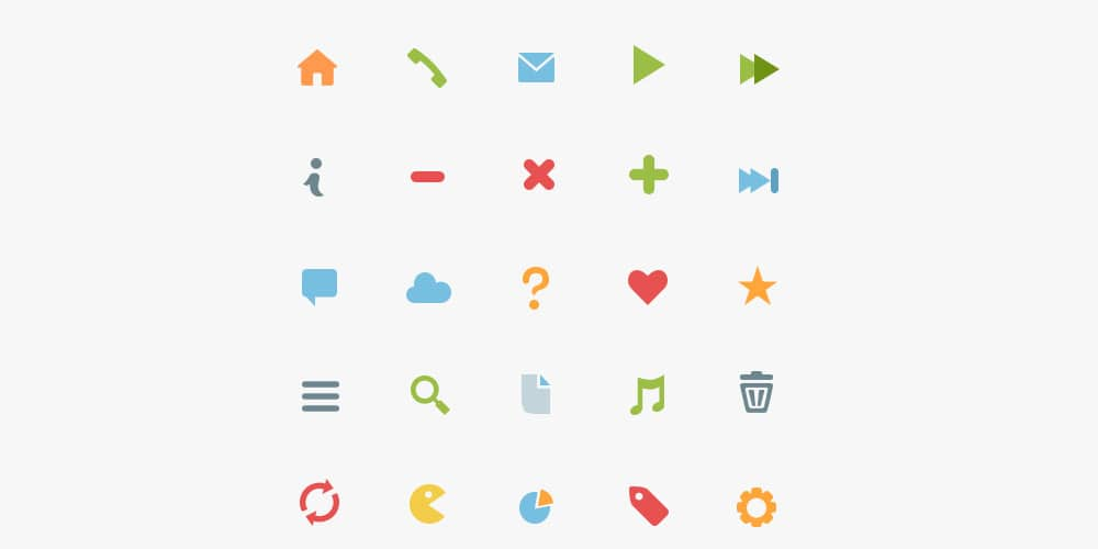 Simple Flat Icons PSD