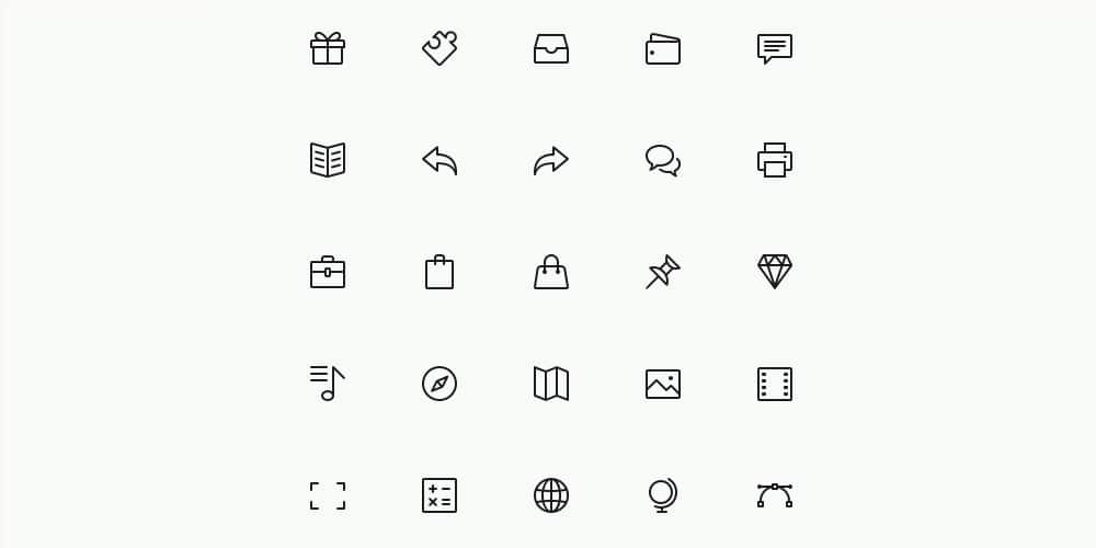 Simple Line Icons Set PSD