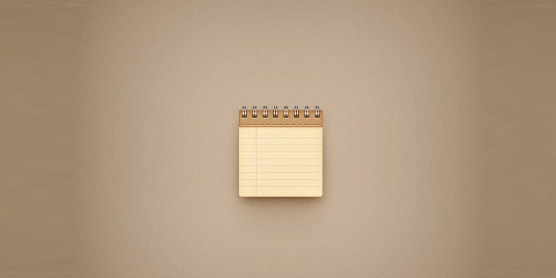 Create a Simple Notebook Icon in Adobe Photoshop
