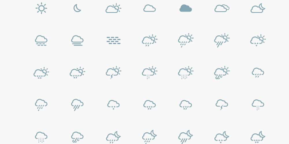 Simple Weather Vector Icons