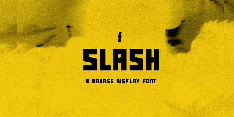 Slash Free Display Font