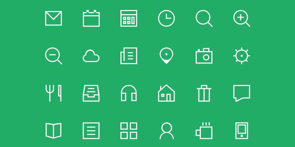 Thin Icon PSD