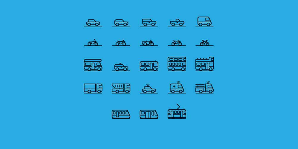 Traffic and Transportation Icons