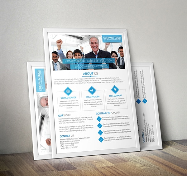 Unic & Clean Business Flyer PSD