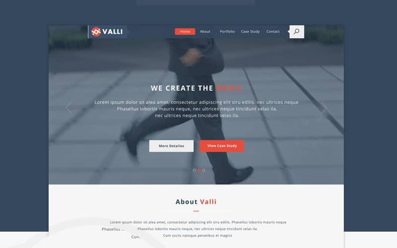 Valli Free Template PSD