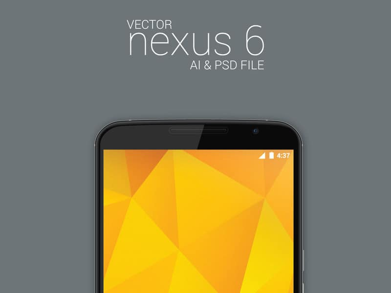 Vector Nexus 6 Model Mockup