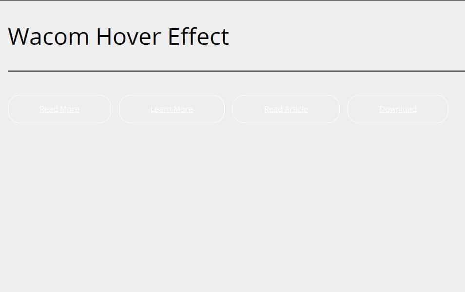 Wacom button:hover effect