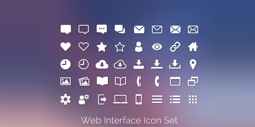 Web Interface Icons PSD