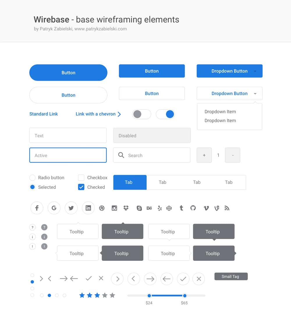 Wirebase Free Wireframe Kit