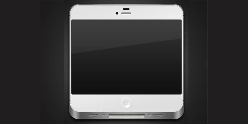 iPhone Icon in Photoshop