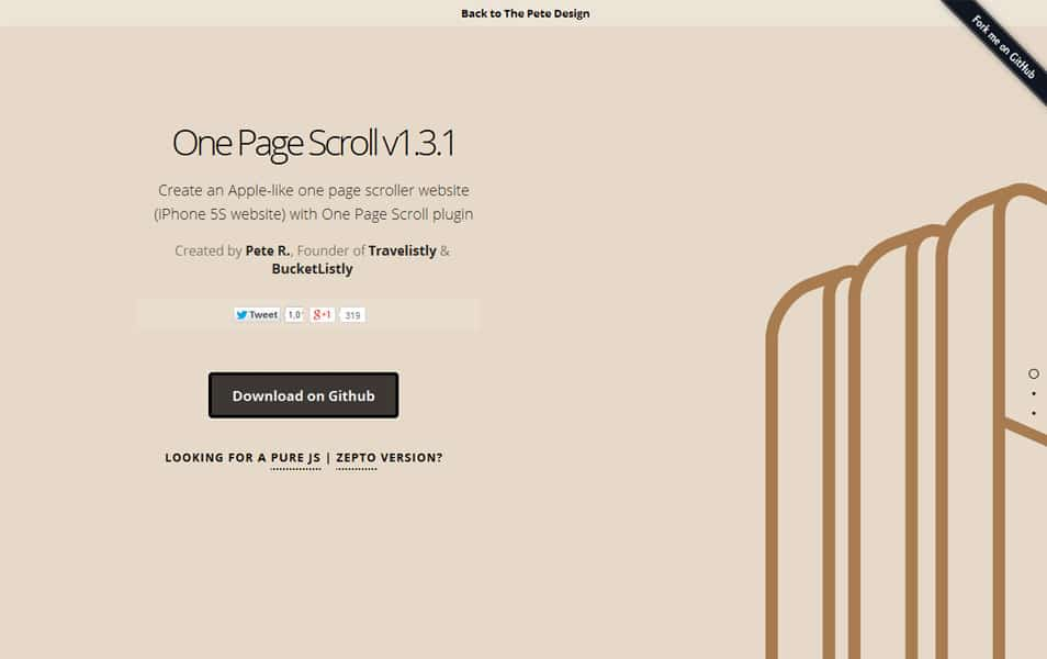 jQuery One Page Scroll