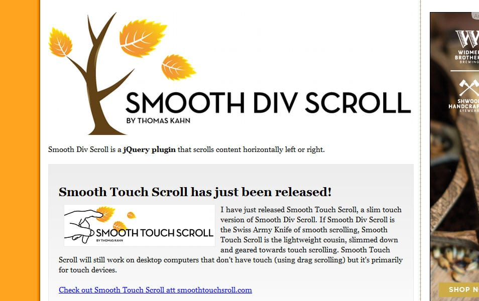 jQuery Smooth Div Scroll