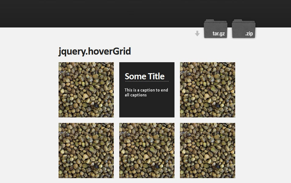 jquery.hoverGrid
