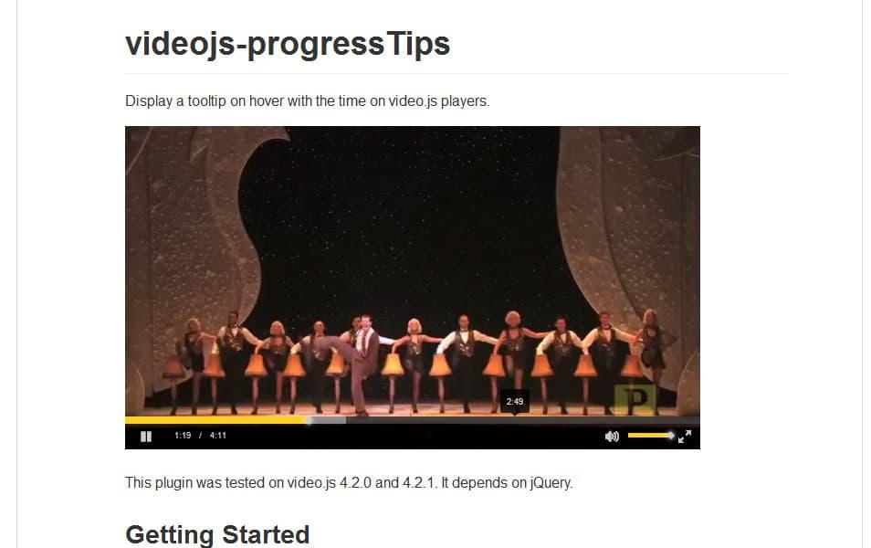 videojs-progressTips