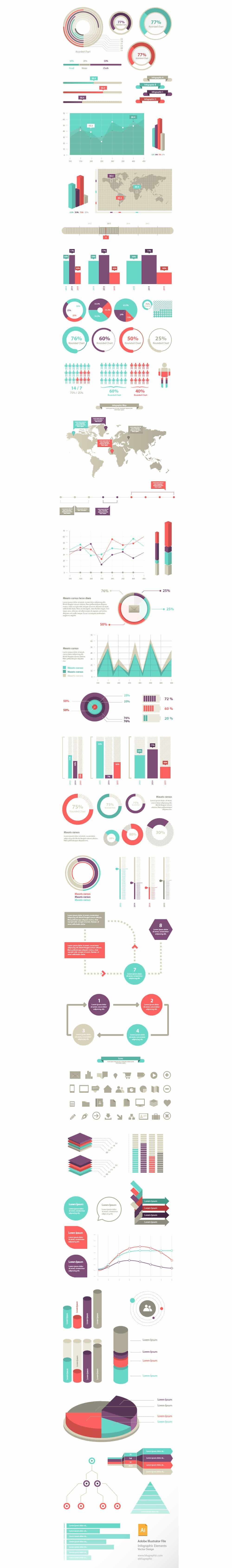 100+ Infographic Elements Vector
