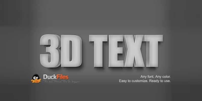 3D Text Effect Free PSD