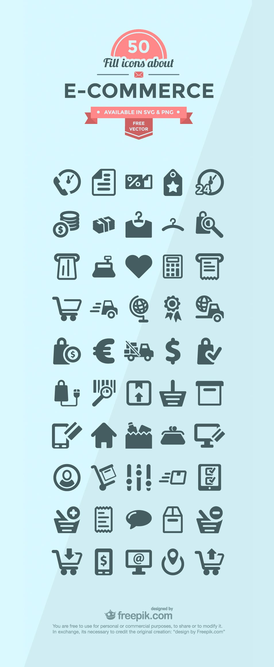 50+ Ecommerce Icon Set