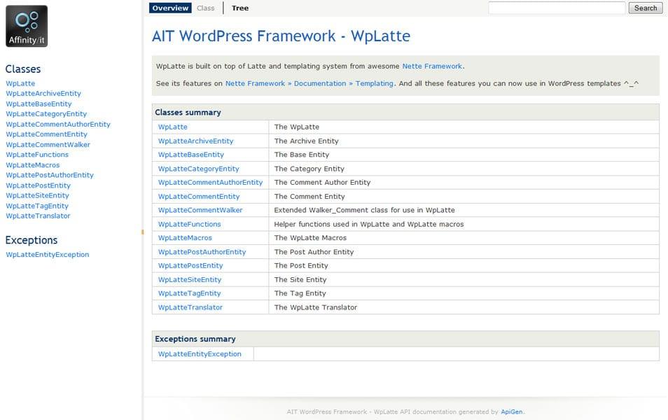 AIT WordPress Framework - WpLatte