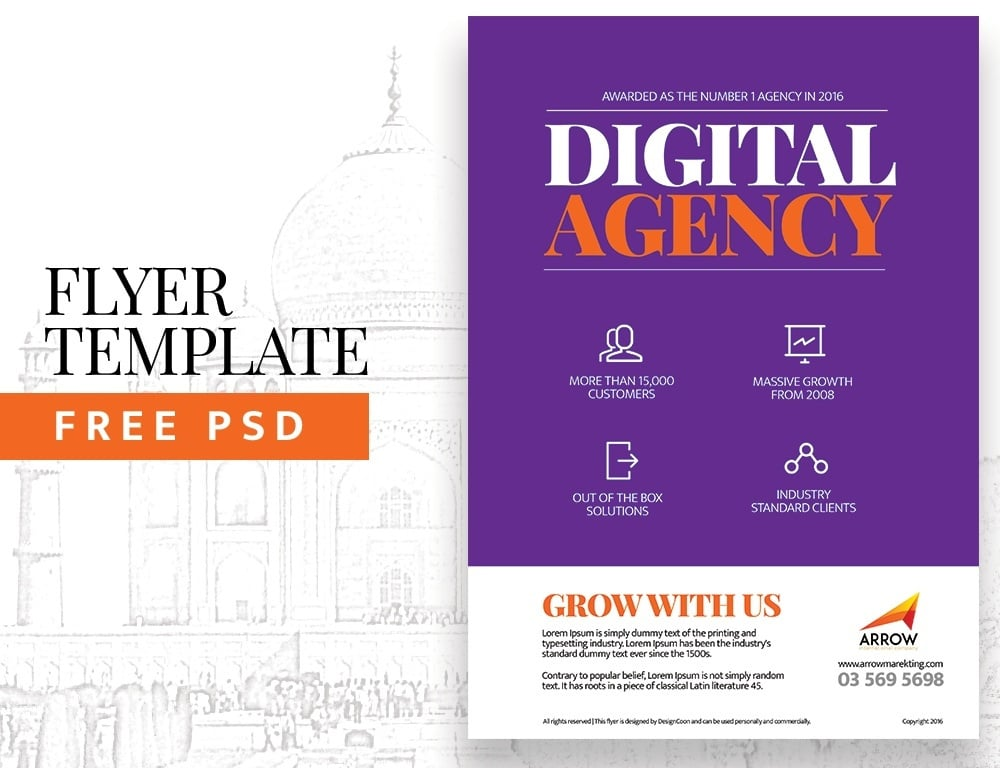 Agency Flyer Template PSD