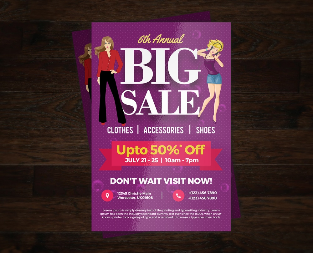 Big Sale Colorful Flyer Template PSD