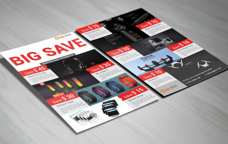 Big Save Product Sale Flyer PSD