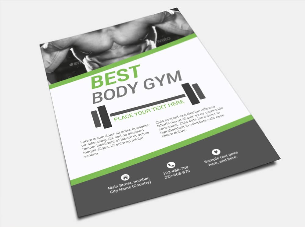 Body Gym Free Flyer Template PS