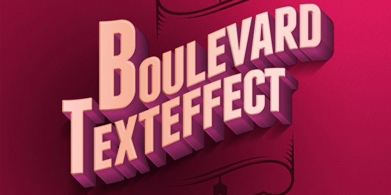 Boulevard Retro Text Effect PSD