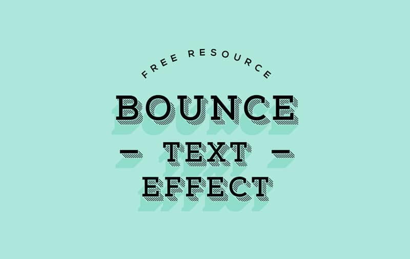 Bounce Text Effect PSD