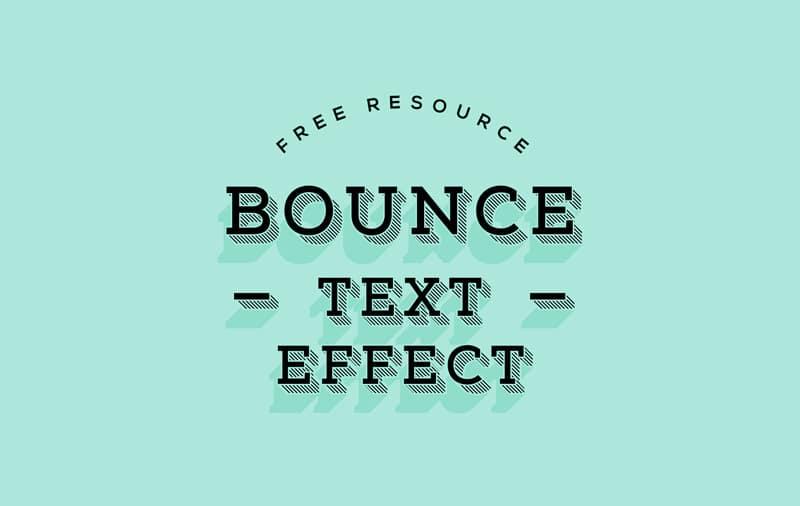 Bounce Text Effect PSD