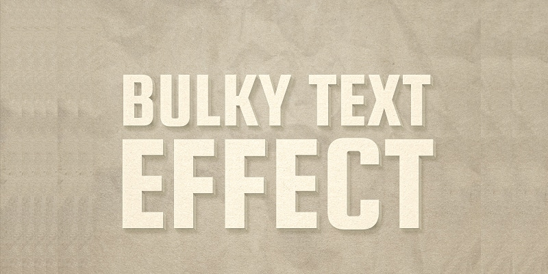 Cardboard Text Effect