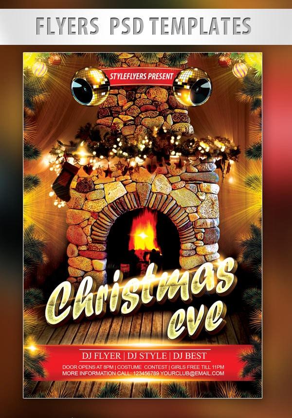 Christmas Eve Flyer PSD