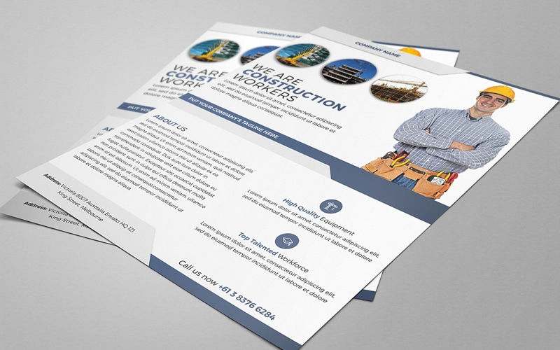 Construction Service Flyer Template PSD