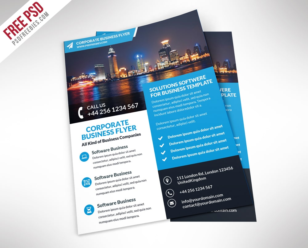 photoshop templates for brochures - free flyer templates psd from 2016 css author
