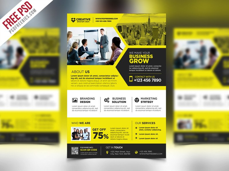 corporate business promotional flyer template