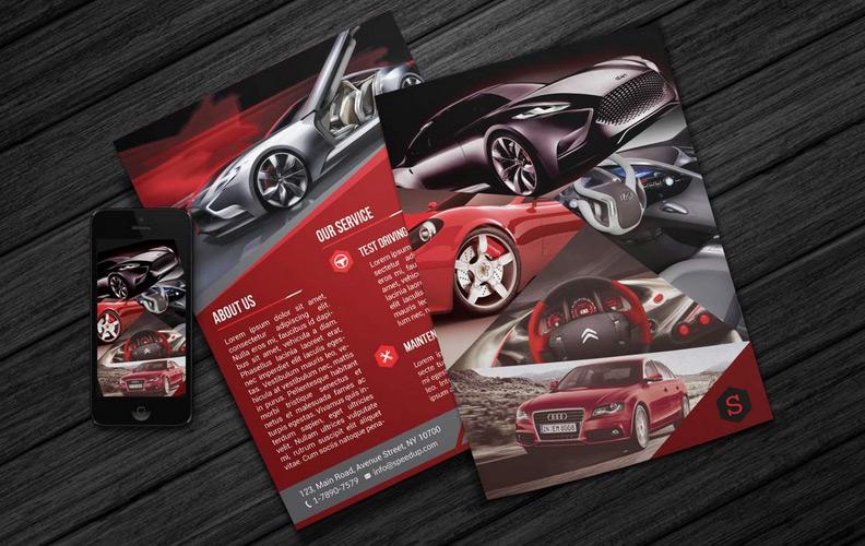 Creative Car Showroom Flyer PSD