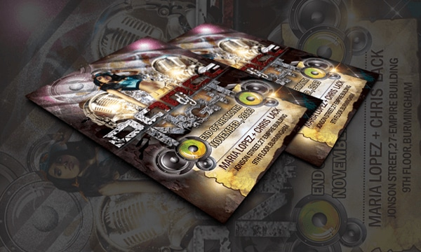 DJ Dance Party Free Flyer Templates PSD