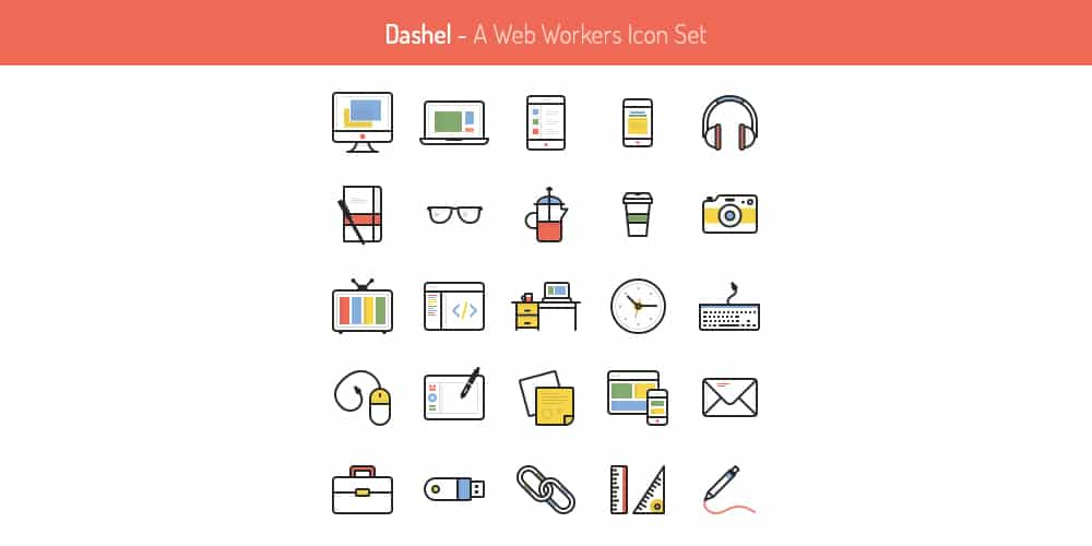Dashel Free Icon Set