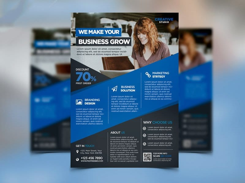 Digital Agency Advertising Flyer Template