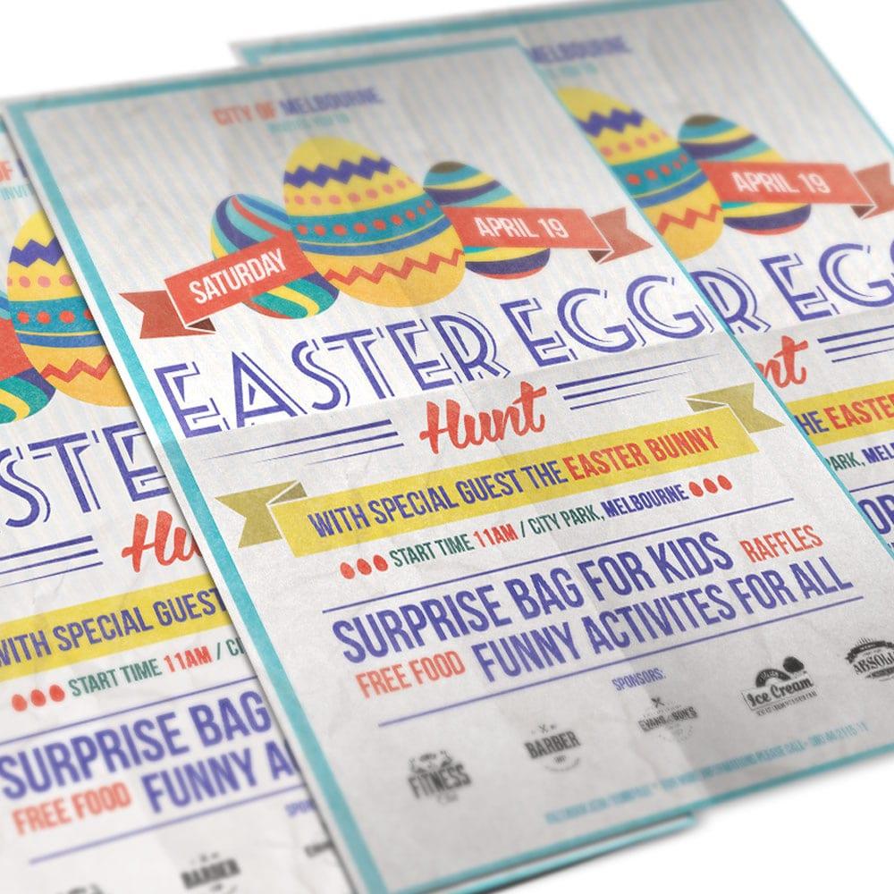 Easter Egg Hunt Flyer PSD