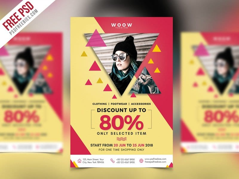 Fashion Sale Promotion Flyer Template PSD