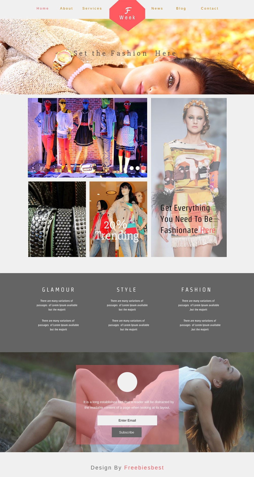 Fashion Week - Free Ecommerse Web Template PSD