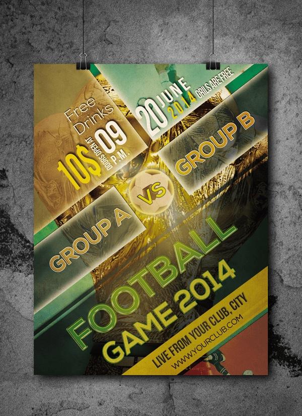 Football Tournament Free Flyer Template PSD