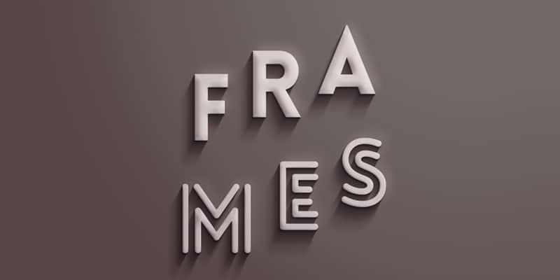 Frames Text Effect PSD