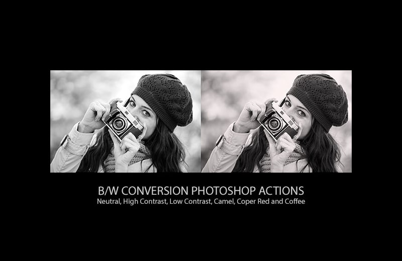 Free B&W Conversion Actions For Adobe Photoshop