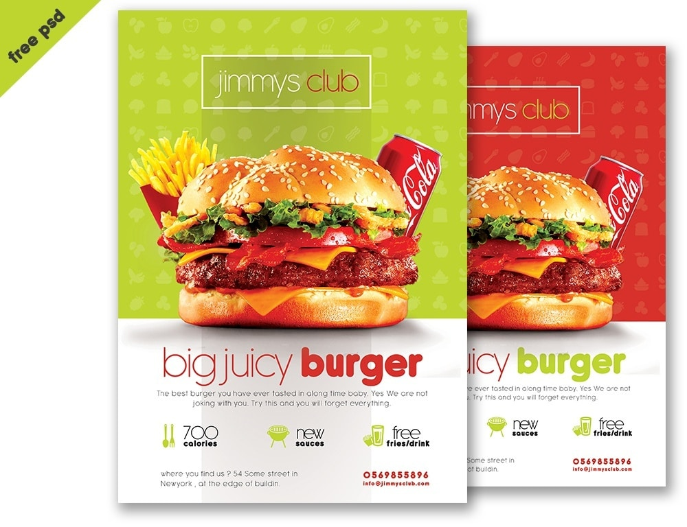Free Burger Flyer Template PSD