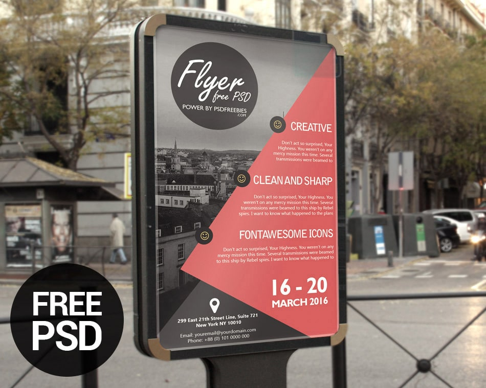 Free Business Event Advertisement Flyer Template PSD