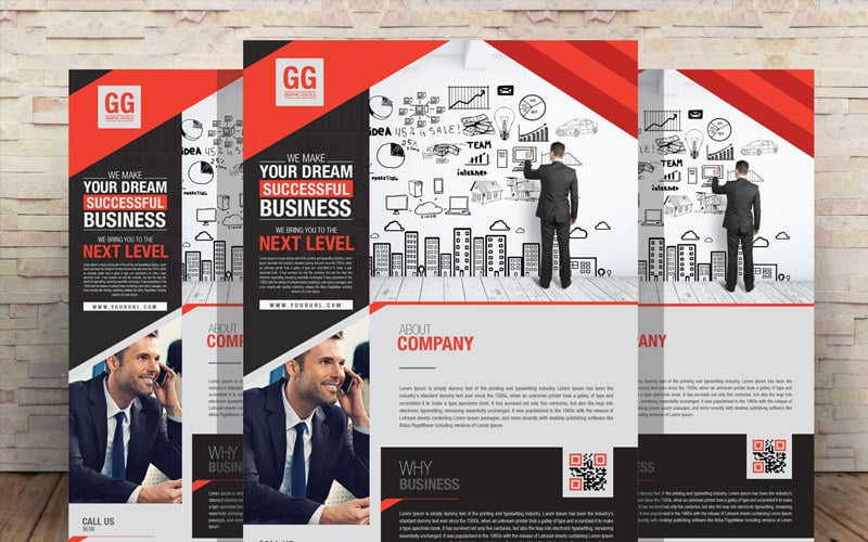 Free Business Flyer Design Template PSD